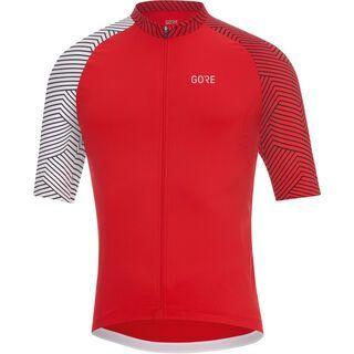 Gore Wear C7 Trikot, red/white - Radtrikot