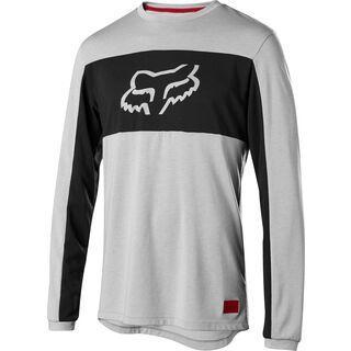 Fox Ranger Drirelease Foxhead LS Jersey, steel grey - Radtrikot