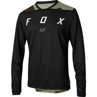 Fox Indicator LS Mash Camo Jersey, black - Radtrikot