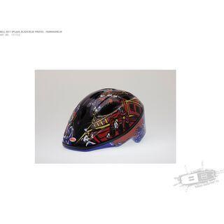 Bell Splash Unisize // 46-50 cm, black/blue pirates - Fahrradhelm