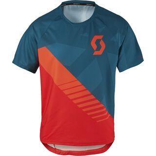 Scott Trail 50 S/SL Junior Shirt, eclipse blue/fiery red - Radtrikot