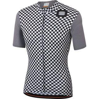 Sportful Checkmate Jersey, white/black - Radtrikot