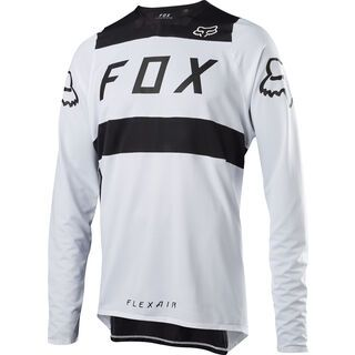 Fox Flexair LS Jersey, white/black - Radtrikot