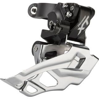 Shimano Umwerfer Deore XT FD-M786 2x10 Down Swing - Top-Pull, schwarz