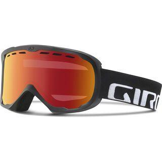 Giro Focus, black wordmark/Lens: amber scarlet - Skibrille