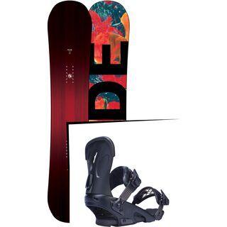 Set: Ride Saturday 2017 + Ride Fame 2017, black - Snowboardset