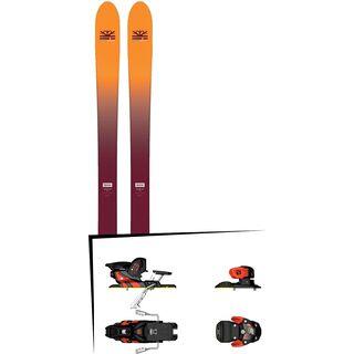 Set: DPS Skis Wailer F99 Foundation 2018 + Salomon Warden MNC 13 white/black/orange