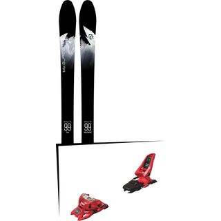 Set: Icelantic Sabre 99 2018 + Marker Squire 11 ID red