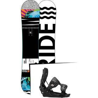 Set: Ride Rapture 2017 + Flow Minx 2017, black - Snowboardset
