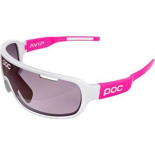 POC DO Blade AVIP, white/fluo pink/Lens: violet silver - Sportbrille