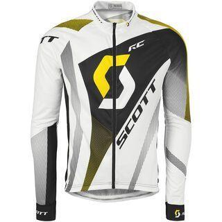 Scott RC Pro Light l/sl Shirt, white/yellow rc - Radtrikot