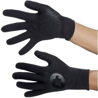 Assos rainGlove evo7, black volkanga - Fahrradhandschuhe