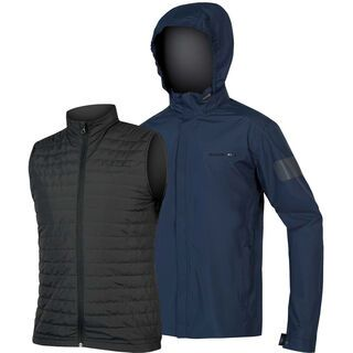 Endura Urban 3 in 1 Waterproof Jacket, marineblau - Radjacke