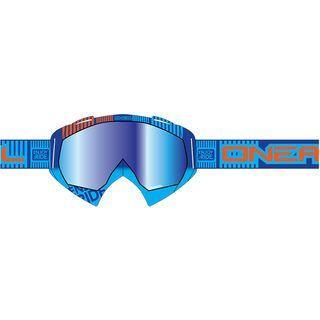 ONeal B-Flex ETR, blue orange/lens: clear - MX Brille