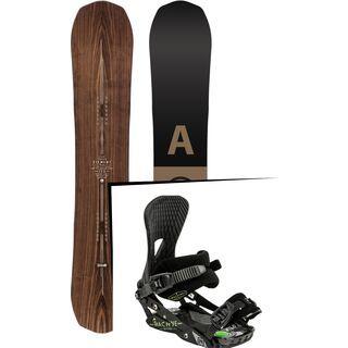 Set: Arbor Element Premium 2017 + Nitro Machine 2015, black - Snowboardset