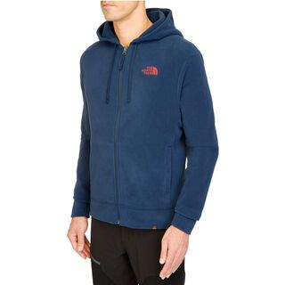 The North Face Mens 100 Embro Full Zip, Cosmic Blue - Hoodie