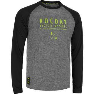 Rocday Manual Jersey, melange-lime - Radtrikot