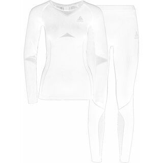 Odlo Set Long Performance Evolution Warm, white - Unterwäsche-Set