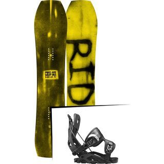 Set: Ride Warpig Small 2017 + Flow Fuse 2017, black - Snowboardset