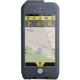 Topeak Weatherproof RideCase iPhone 5 mit Halter, black/gray - Schutzhülle