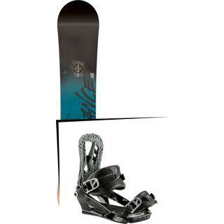 Set: Nitro Stance Wide 2017 + Nitro Pusher 2017, black - Snowboardset
