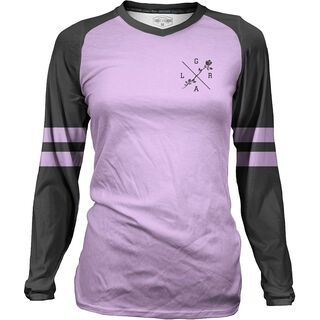 Loose Riders Women's Jersey LS Lilac Varsity - Radtrikot