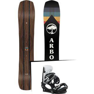 Set: Arbor A-Frame 2019 + Burton Malavita black/white wing