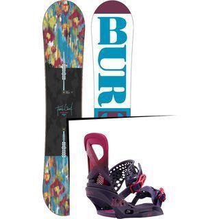Set: Burton Feelgood Flying V 2016 + Burton Lexa EST 2017, feelgood purple - Snowboardset