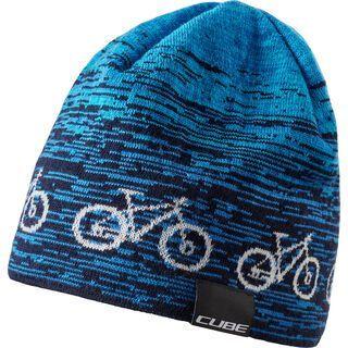 Cube Beanie Bike, blue´n´white - Mütze
