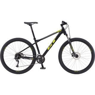 GT Avalanche Sport 27.5 2019, black w/ chartreuse & silver - Mountainbike