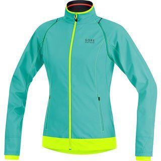 Gore Bike Wear Element Lady Windstopper Active Shell Zip-Off Jacke, turquoise/neon yellow