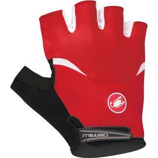 Castelli Arenberg Gel Glove, red/white - Fahrradhandschuhe