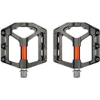 Cube RFR Pedale Flat SLT 2.0, grey´n´orange