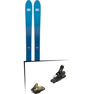 Set: DPS Skis Wailer F106 Foundation 2018 + Salomon STH2 WTR 16 gold/black