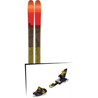 Set: K2 SKI Poacher 2017 + Marker Kingpin 13 75-100 mm, black/gold - Skiset