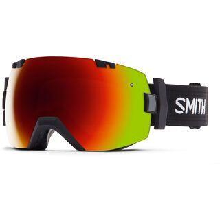 Smith I/Ox inkl. Wechselscheibe, black/Lens: red sol-x mirror - Skibrille