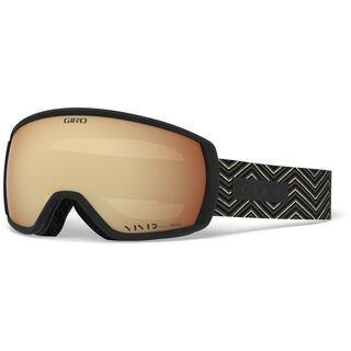 Giro Facet, black zag/Lens: vivid copper - Skibrille