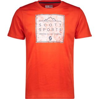 Scott 10 Casual S/SL Tee, tangerine orange - T-Shirt