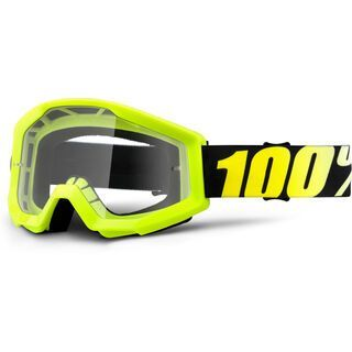 100% Strata, neon yellow/Lens: clear - MX Brille