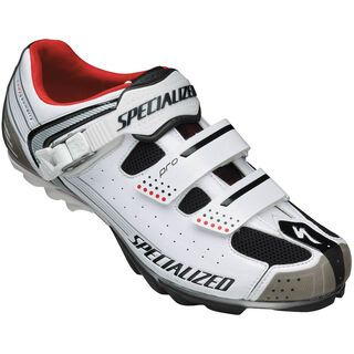 Specialized Pro MTB, White/Red - Radschuhe