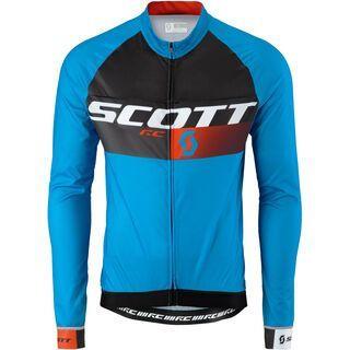 Scott RC Pro light l/sl Shirt, diva blue/tangerine orange - Radtrikot