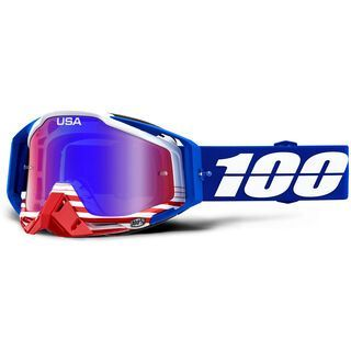 100% Racecraft, anthem/Lens: mir red/blue - MX Brille