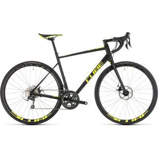 Cube Attain Race Disc 2019, black´n´flashyellow - Rennrad