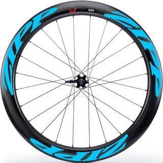 Zipp 404 Firecrest Carbon Clincher Disc-brake, schwarz/blau - Vorderrad