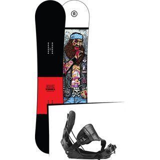 Set: Ride Crook Wide 2017 + Flow Five Hybrid 2017, black - Snowboardset