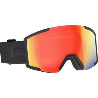 Scott Shield Goggle inkl. WS, black/Lens: enh red chrome - Skibrille