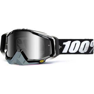 100% Racecraft inkl. Wechselscheibe, black/Lens: mirror silver - MX Brille