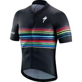 Specialized SL Shortsleeve Jersey, black/multi neon - Radtrikot