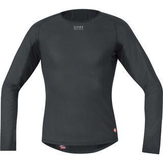 Gore Bike Wear Base Layer Windstopper Thermo Shirt Lang, black - Unterhemd
