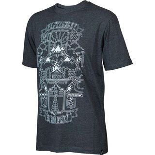 Platzangst Roof Shirt, black - Radtrikot